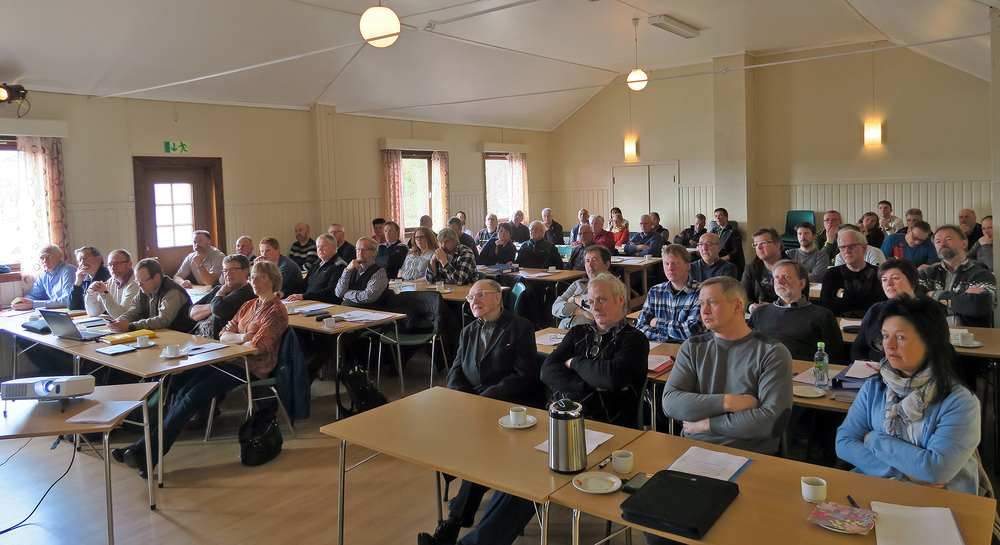 Vertskap for årsmøtet i år var Soknedal fjellstyre. Oppmøtet i Nordhauka forsamlingshus lørdag var meget godt. Foto: Arne Nyaas