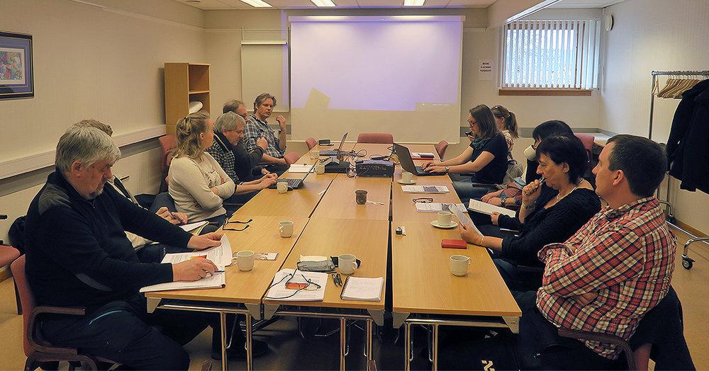 Et siste møte i styringsgruppa før rapporten legges fram i slutten av april. Foto: A. Nyaas