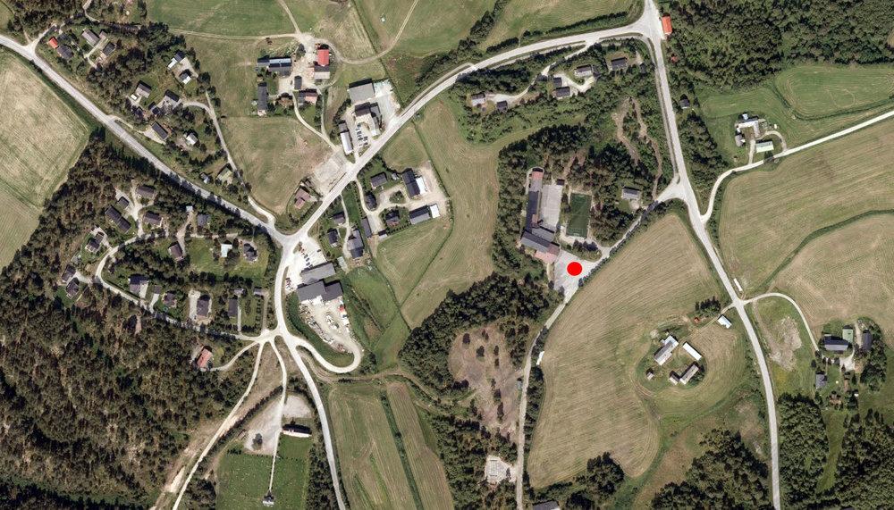 Dalsbygda Samfunnshus (markert med rødt) er stedet for årets årsmøte, lørdag 29. april 2017. Kart: Google