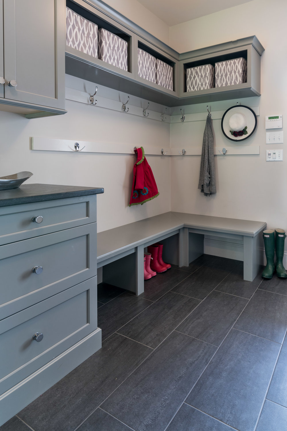 Mudroom in Norwell.