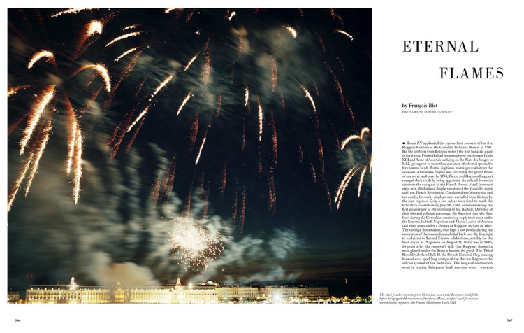 Holiday Magazine -  Ruggieri fireworks, Bordeaux.