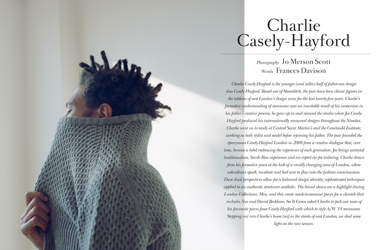 Charlie Casely-Hayford for So It Goes