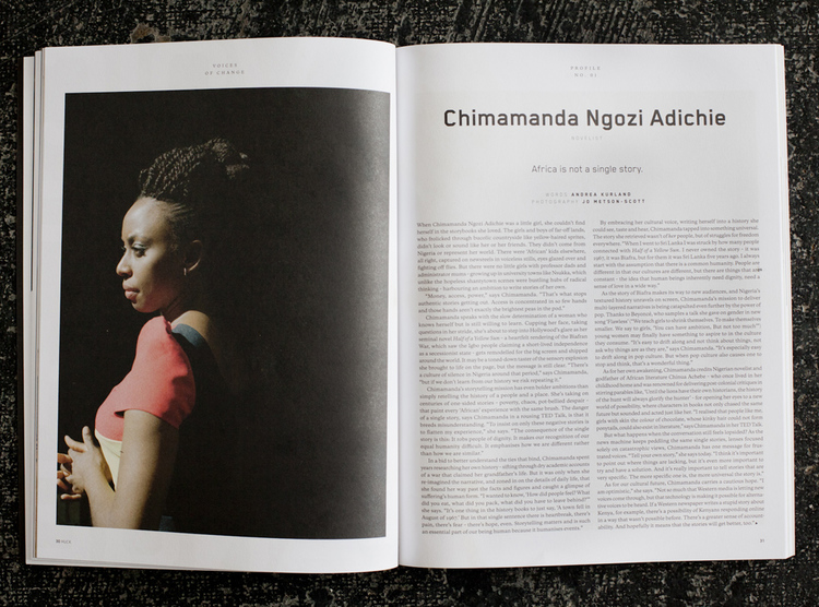 Chimamanda Adiche For Huck Magazine