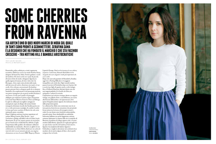 Serafina Sama Founder of Isa Arfen for L'officiel Italia