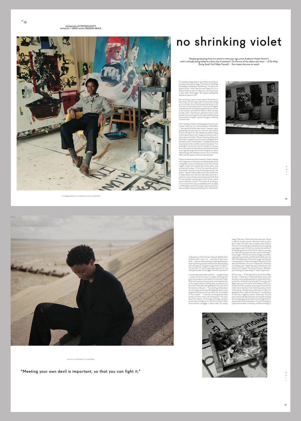 Twin Magazine - Violet