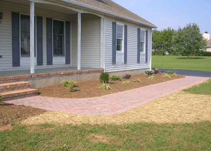 Anchor Cobble Pavers, with Planting