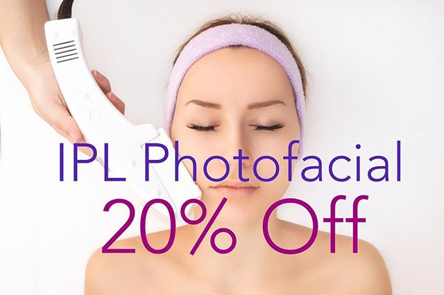 20% OFF in November! IPL or Intense Pulsed Light therapy is used to treat a variety of skin conditions such as brown spots, broken capillaries, spider veins, and facial redness. Book with Noel @dranthonyadmire #ipl #photofacial #esthetician #scottsdale #fountainofyouth #antiaging