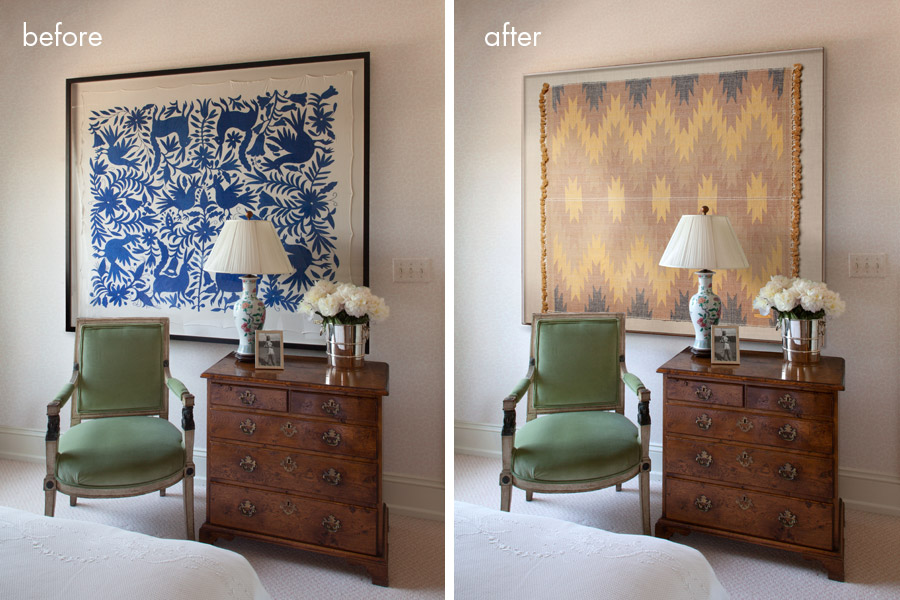 Sample of before and after photo retouching