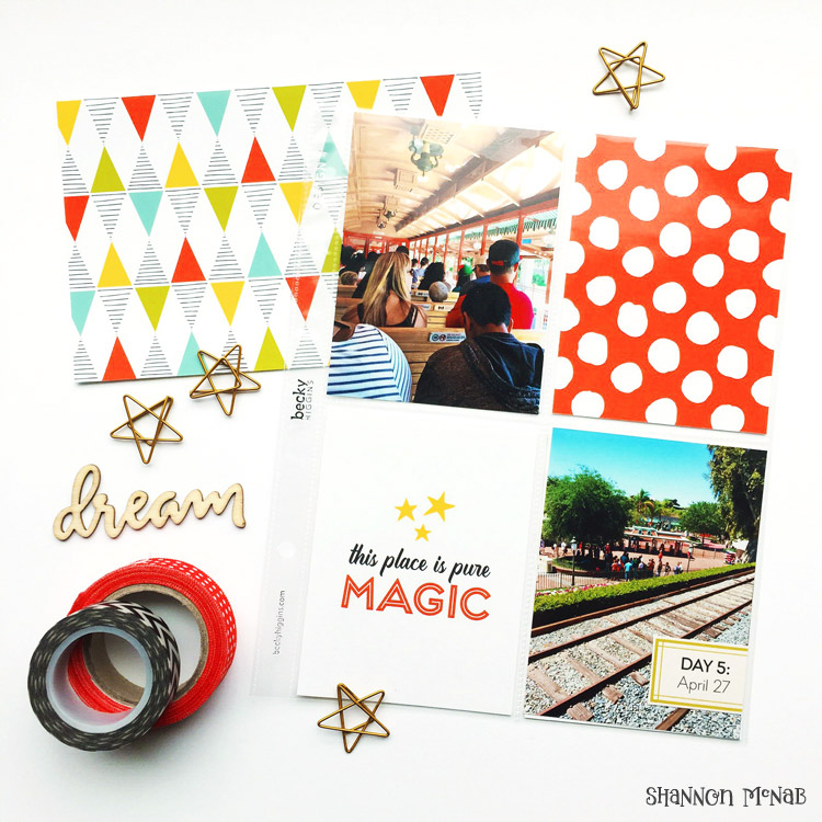 Magic Memories Project Life Cards | shannonmcnab.com