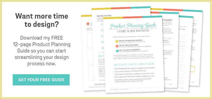Do you find yourself wanting more time to design? Download my FREE 12-page Product Planning Guide so you can start streamlining your design process now. GET YOUR FREE GUIDE | shannonmcnab.com
