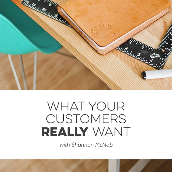 What Your Customers Really Want: A Creative Business Class by Shannon McNab