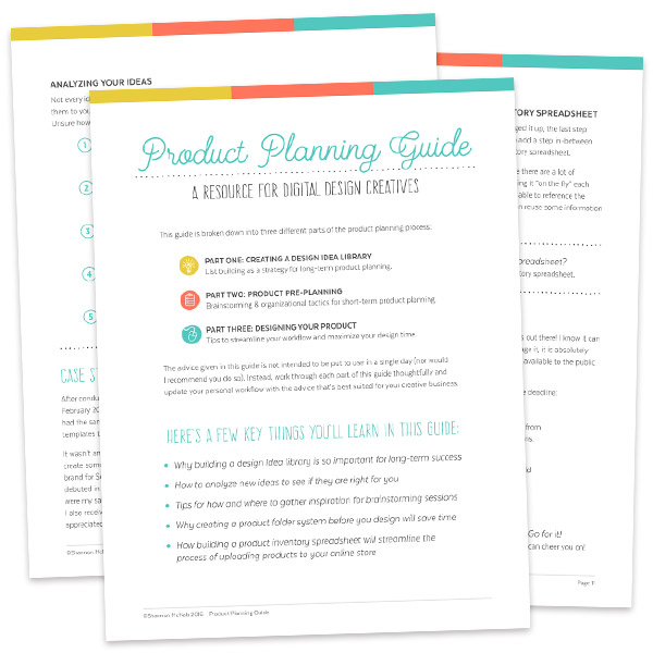 Product Planning Guide: A Resource for Digital Design Creatives by Shannon McNab