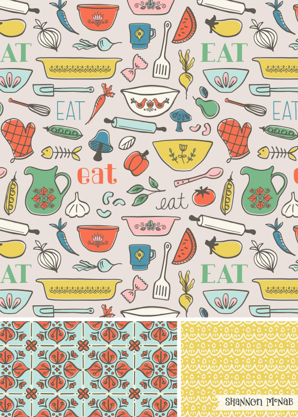 Party in the Pantry Pattern Collection | ©2016 Shannon McNab