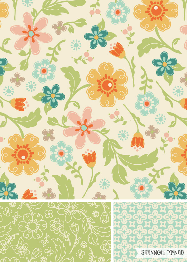 Wildflowers Pattern Collection | ©2016 Shannon McNab