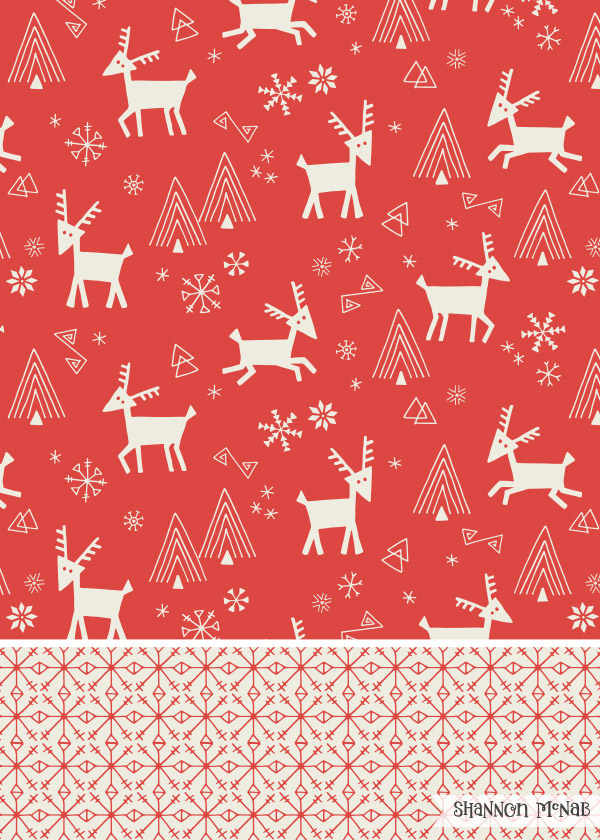 Scandi Reindeer surface pattern designs  |   ©2016   Shannon McNab