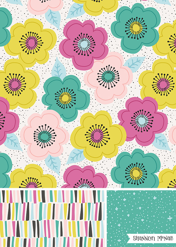 Shine Bright surface pattern design collection | Copyright ©2016 Shannon McNab