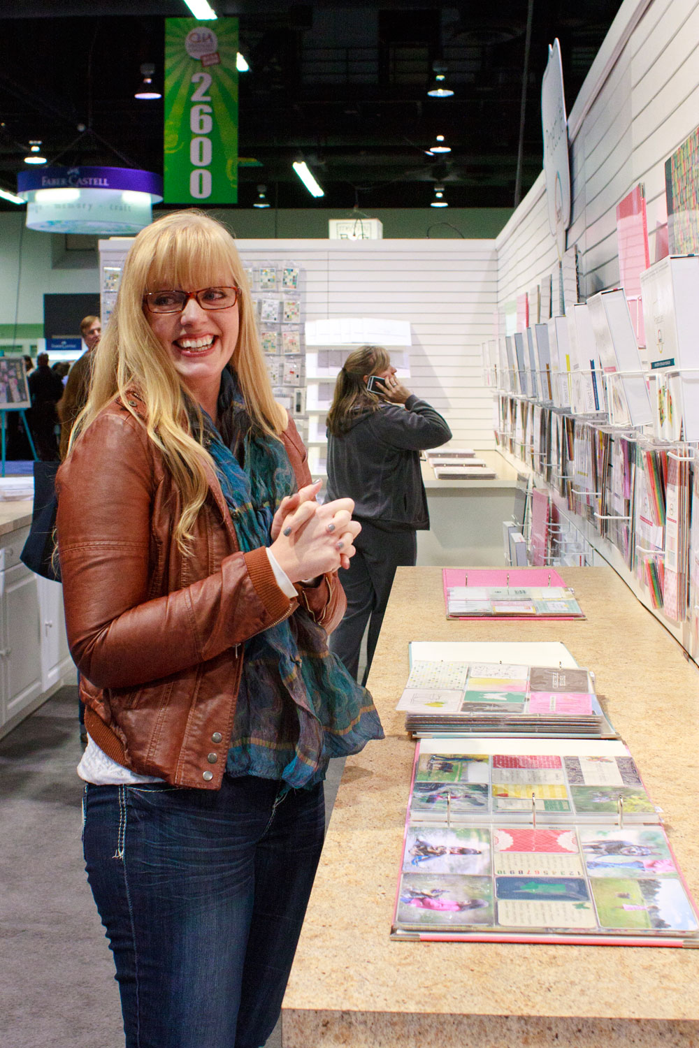Amber LaBau in the Becky Higgins booth at CHA 2014 | shannonmcnab.com
