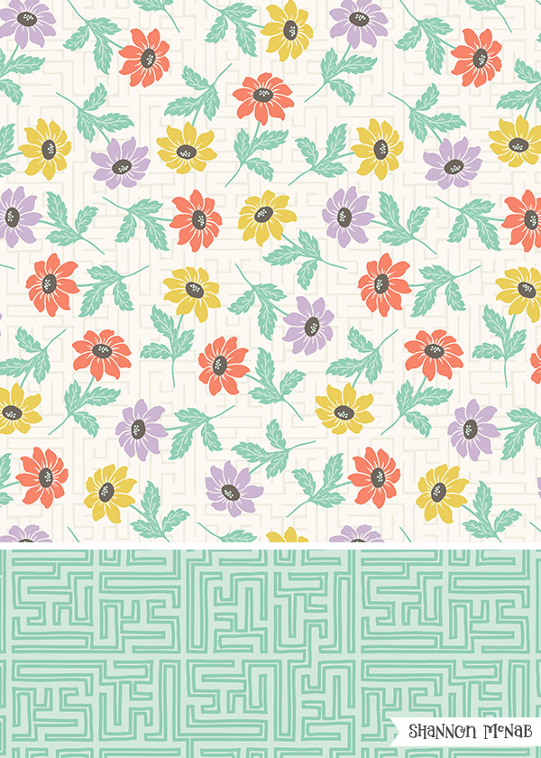 Lazy Susan Floral - Pattern Collection | Copyright ©2017, Shannon McNab