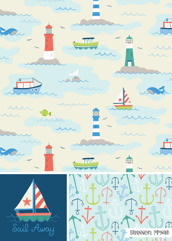 Sail Away - Pattern Design Collection | Copyright ©2017, Shannon McNab