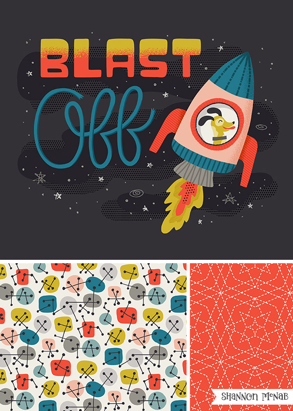 Blast Off - Childrenswear Collection | Copyright ©2017, Shannon McNab