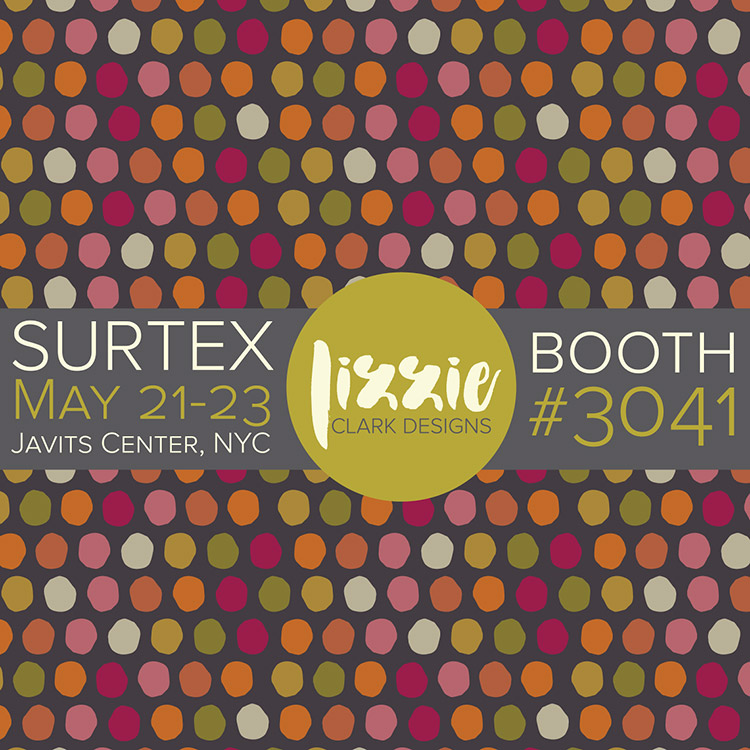 Lizzie Clark Designs | Booth #3041 for Surtex 2017