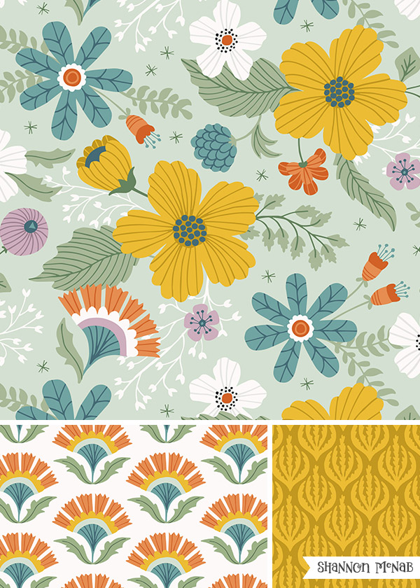 Lush Garden Pattern Collection | ©2017 Shannon McNab