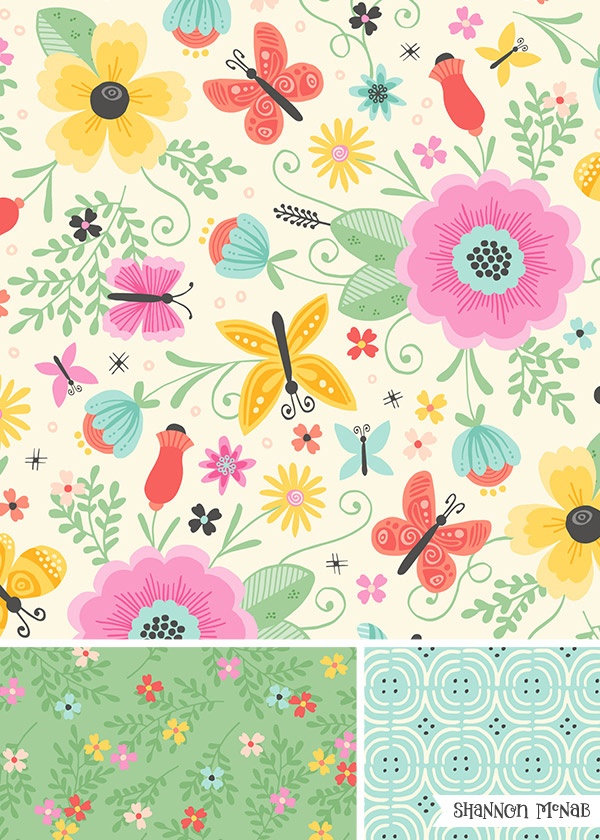 Flutterby Pattern Collection | ©2017 Shannon McNab