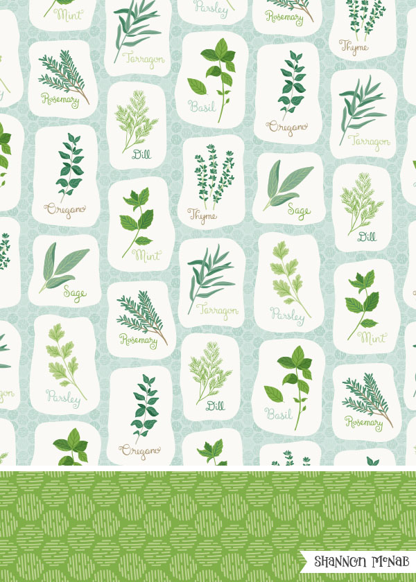 Herb Garden | Pattern Collection | ©2017 Shannon McNab