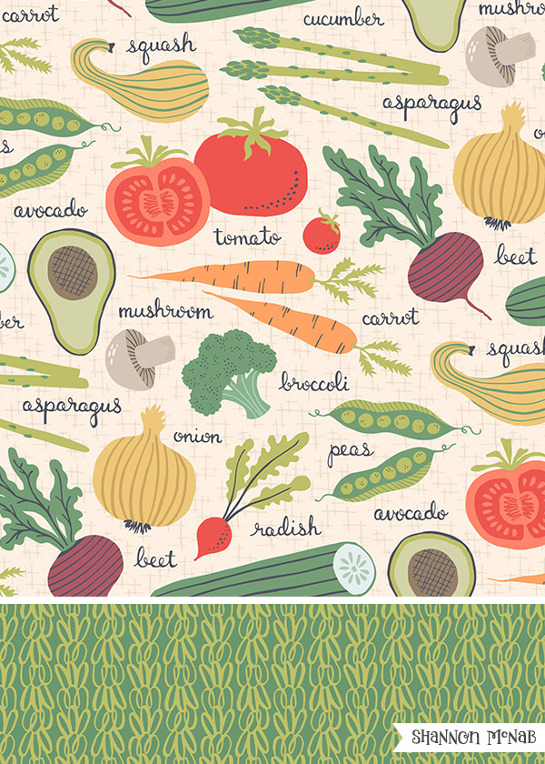 Eat Your Veggies | Pattern Collection | ©2017 Shannon McNab