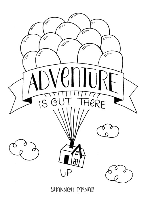 Adventure is Out There | Disney Quote Project by Shannon McNab