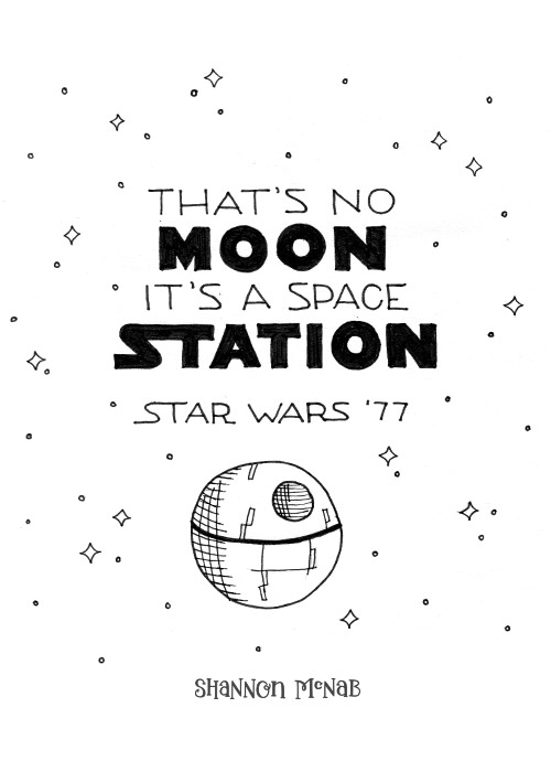 That's No Moon, It's a Space Station | Disney Quote Project by Shannon McNab