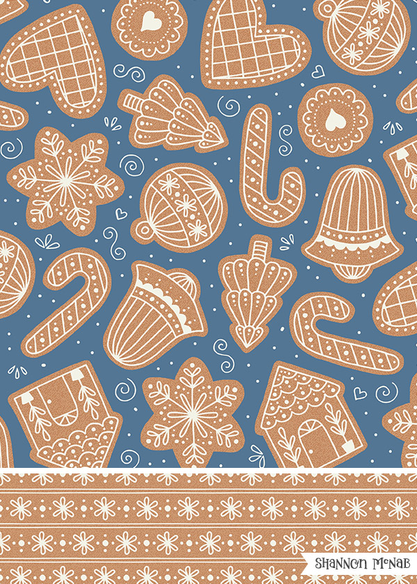 Gingerbread Dreams pattern collection | ©2018 Shannon McNab