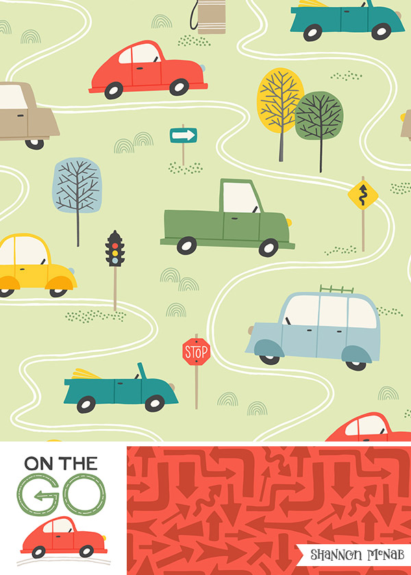 On the Go| Pattern Collection | ©2017 Shannon McNab