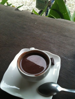 Chocolate shot at Caribean