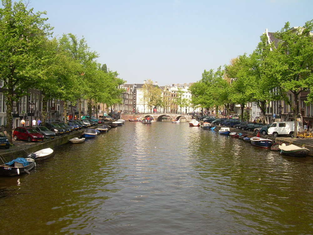 Central Amsterdam's beautiful canals and parks