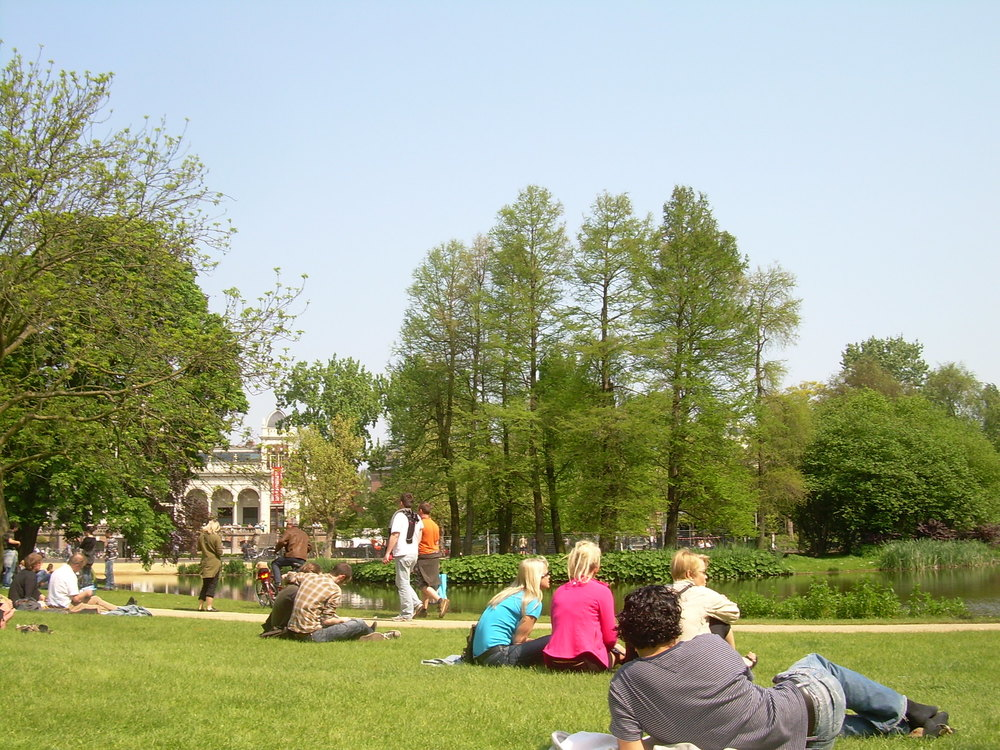 Vondelpark; situated in central Amsterdam
