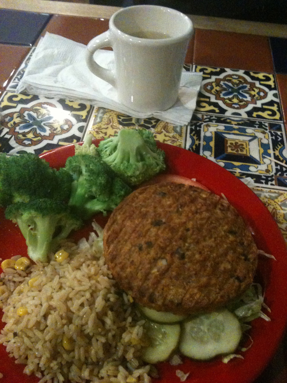 Vegan and gluten-free meal at Dallas Aiport