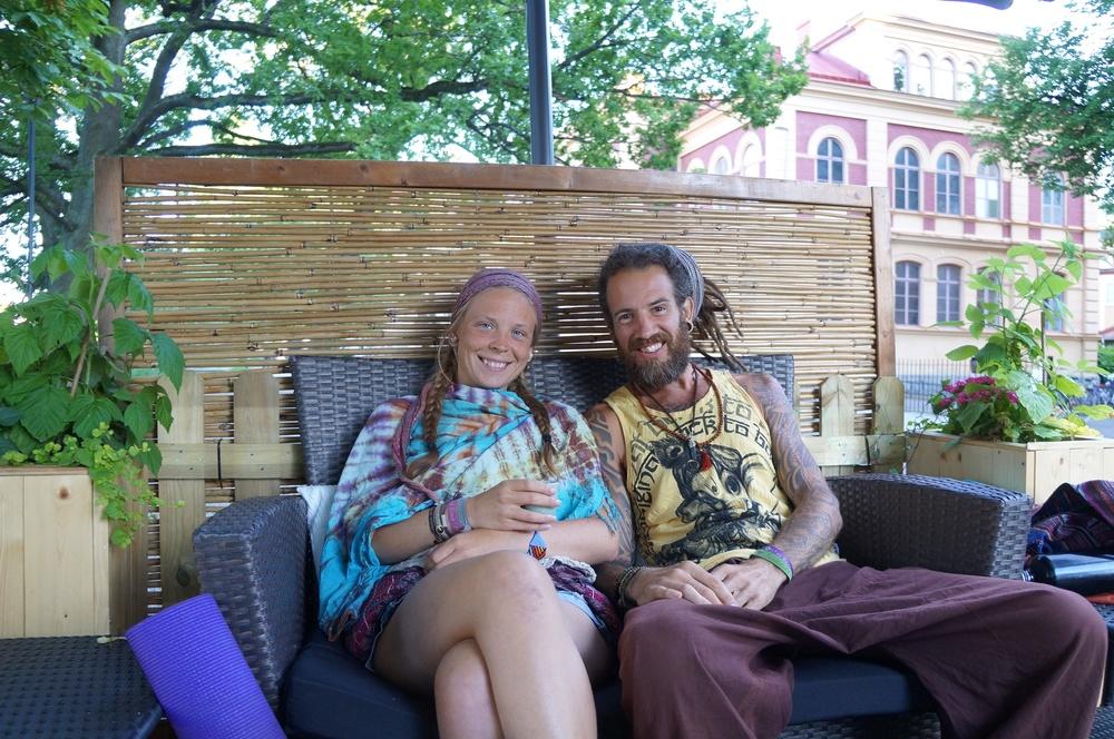 Vegan Thai Food and tea after spreading love thru yoga in Uppsala!