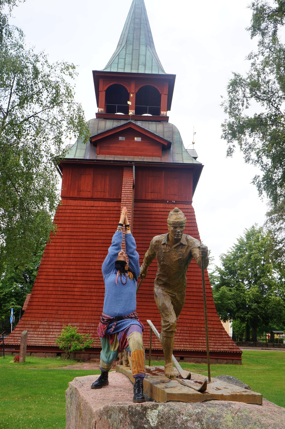 Stop Drop and Yoga in Mora, Dalarna, Sweden