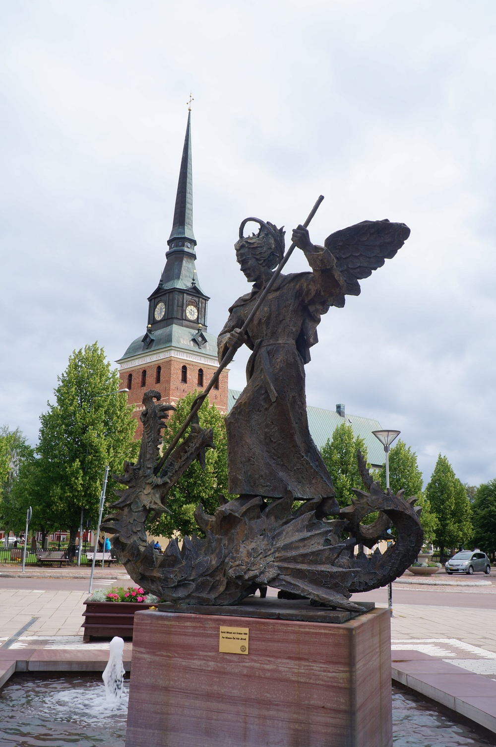 Mythic creatures in Mora, Sweden.