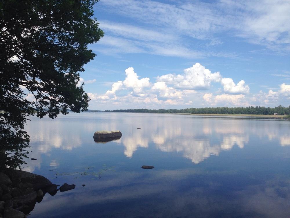 Magisk stillhet i Ulvö, sydvästra Åsnen