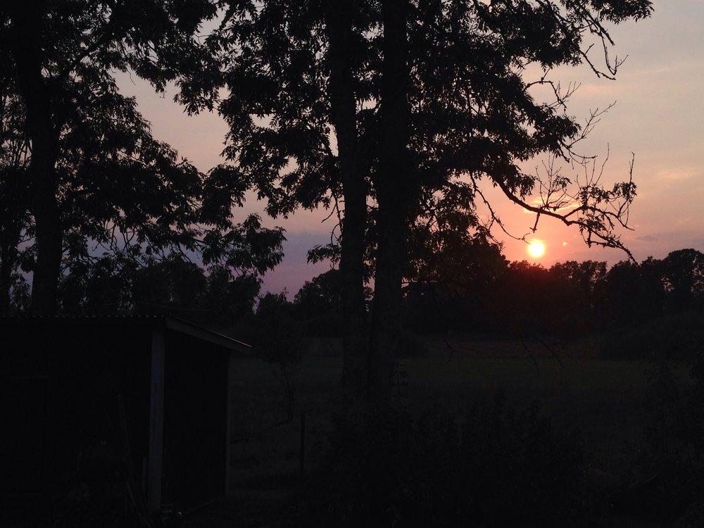 Småländsk Solnedgång i September