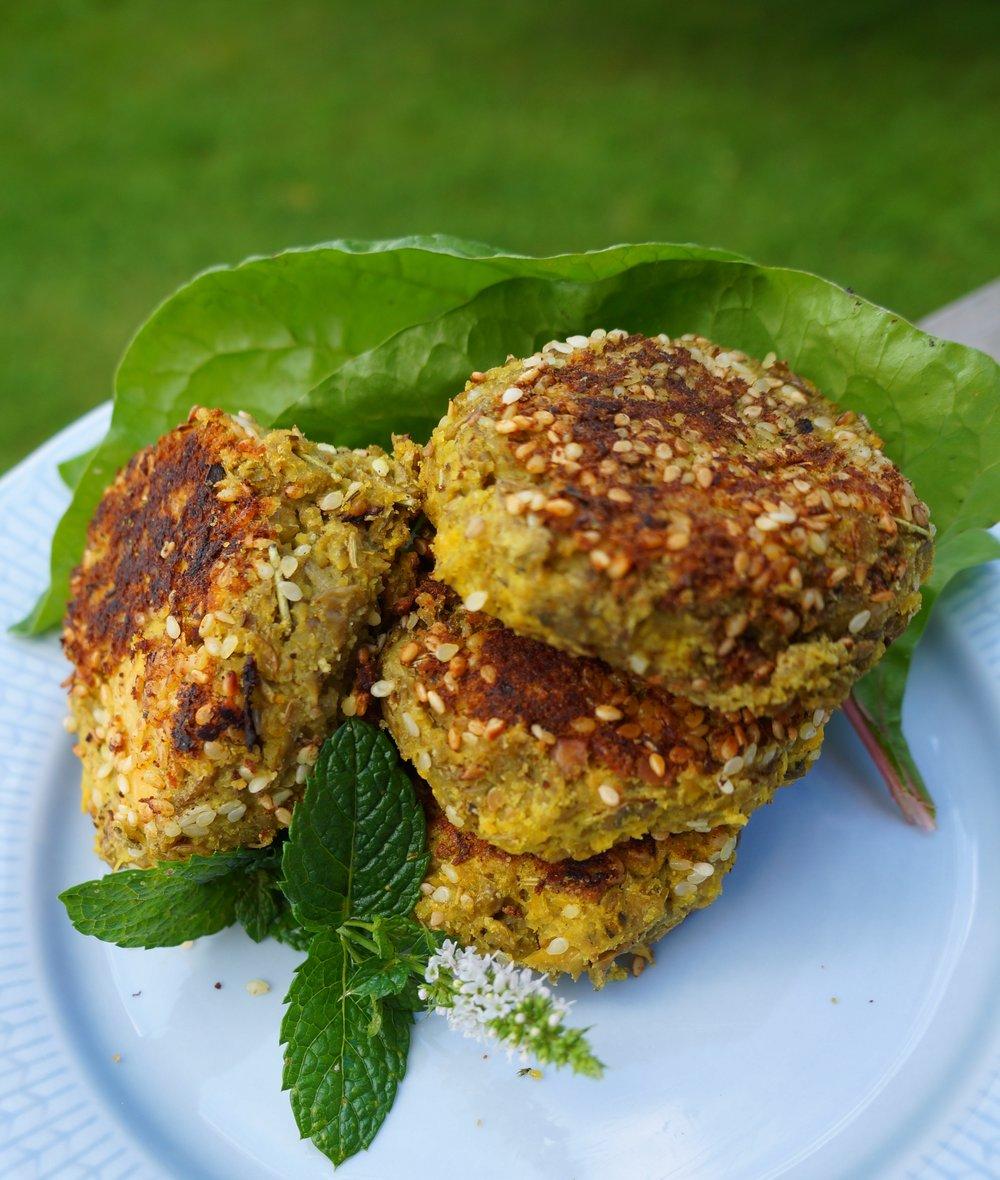 Swede and Lentils Patties Vegan