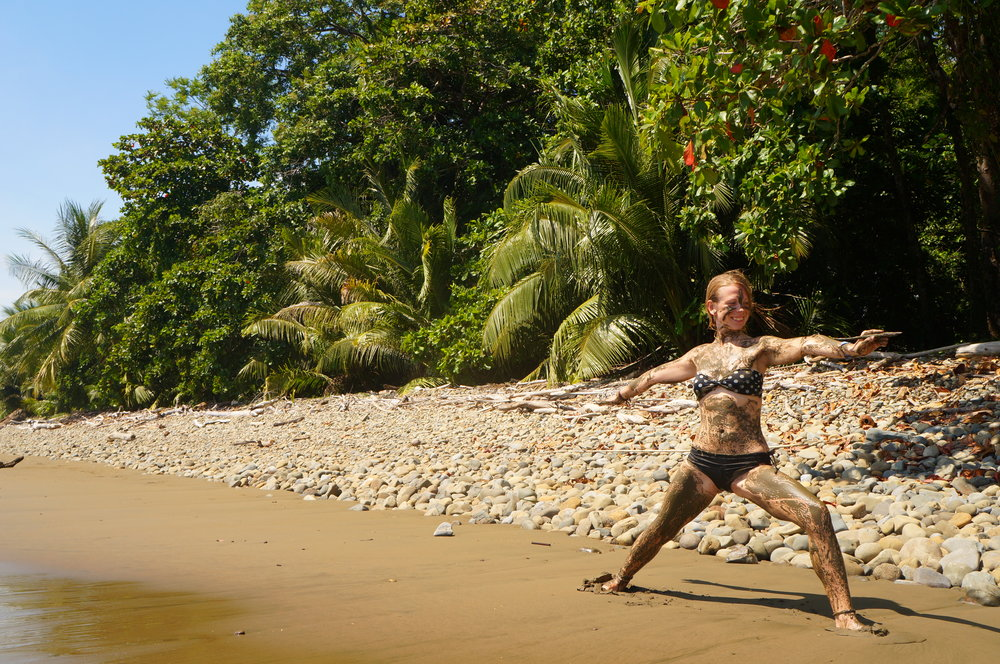 Virabhadrasana /Warrior/ II West Coast, Costa Rica