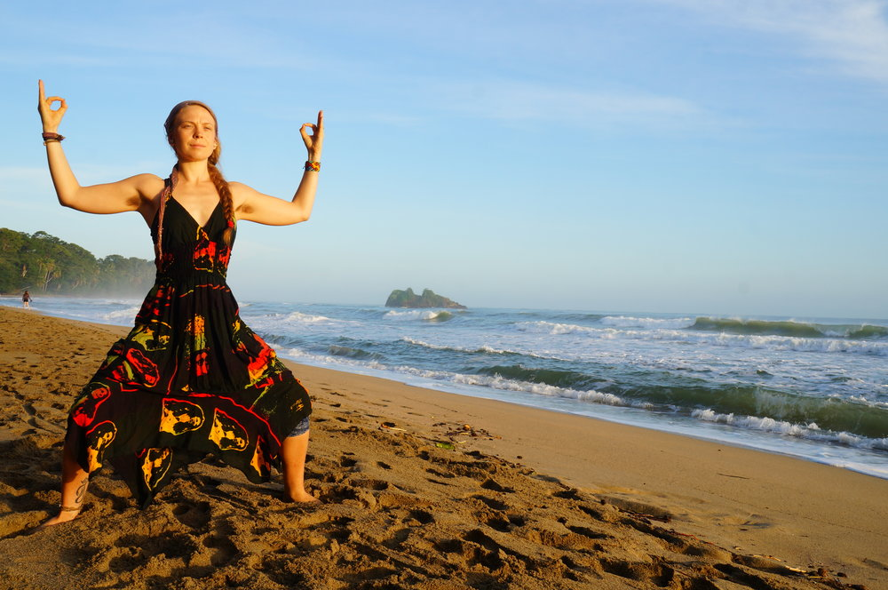Utkata Konasana /Goddess Pose/ Puerto Viejo Beach
