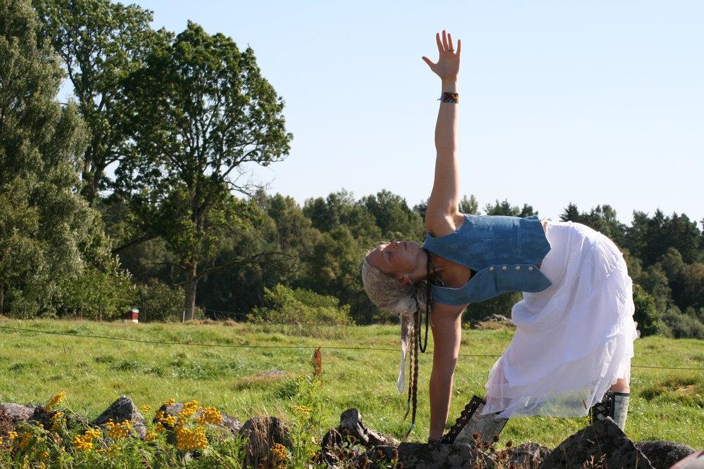 Yoga i Smålandsidyllen