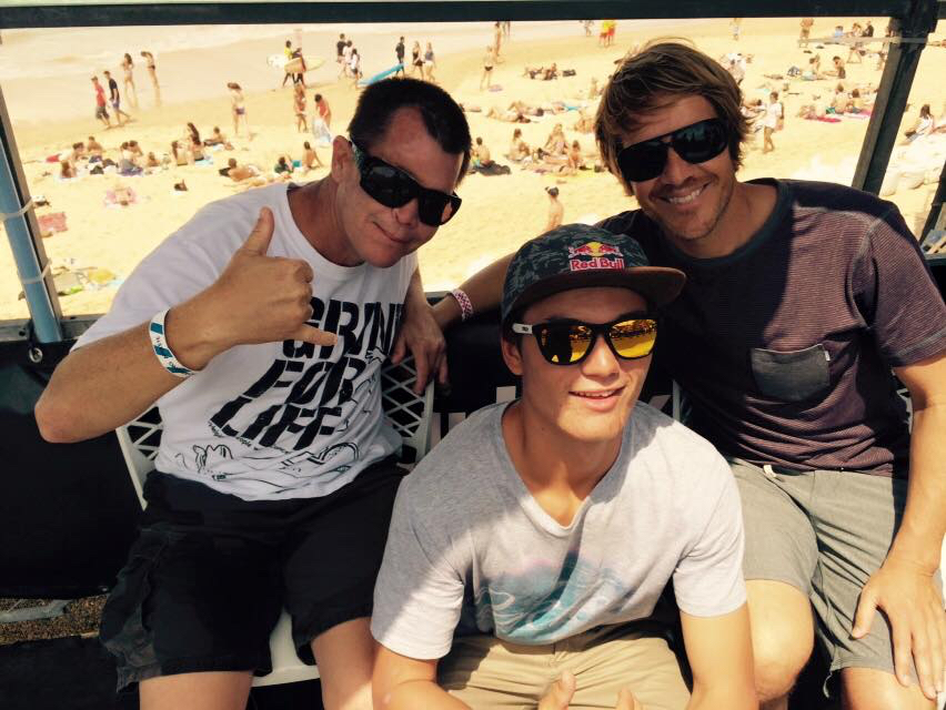 Mike, Alex & Chris Miller, Manly Beach.jpg