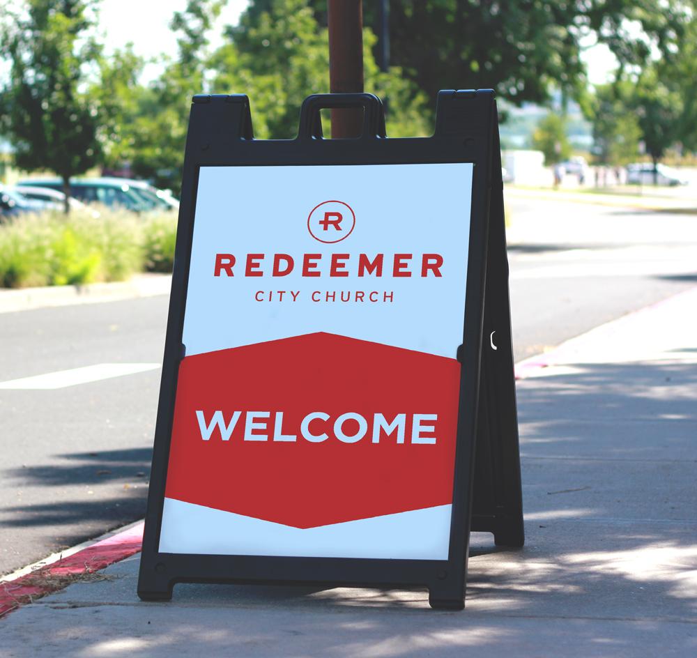 REDEEMER CITY CHURCH - A-FRAME SIGN