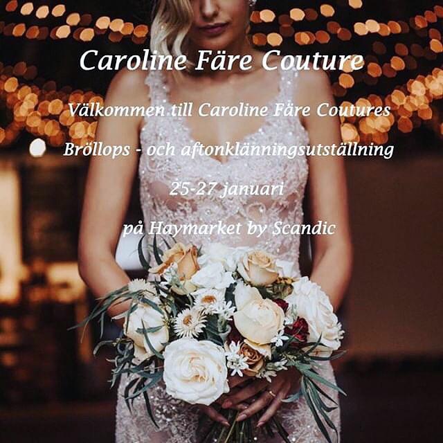 welcome! - Under bröllops veckan ställer Caroline ut sina kreationer på Haymarket hotell i Stockholm.För privat tidsbokning, vänligen kontakta Caroline via mail:info@carolinefare.com