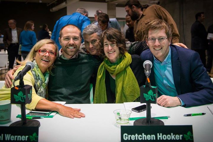 Wege Prize 2015 judges (left to right) Ellen Satterlee, Michael Werner, Nathan Shedroff, Gretchen Hooker, and Colin Webster
